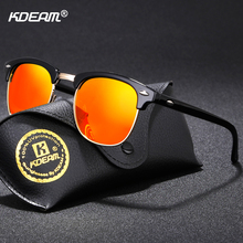KDEAM Semi-rimless Fashion Sunglasses Polarized Women Brand Designer Vintage Sun Glasses Driving With Case CE