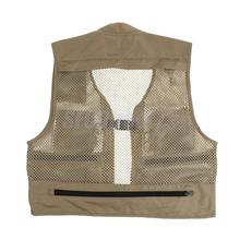 Fishing Vest Summer Outdoor Mens Workwear Mesh Vests Multi-pockets Professional Photography Vest Fishing