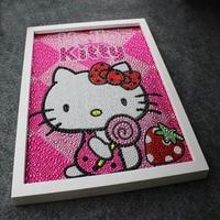 Nice 2016 Lovely Most Popular European Style Diy Kitty 5D Diamond Painting Full Embroidery Round Diamond