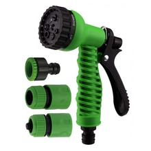 4pcs/set 7 Function Water Spray Gun Set With 3pcs Connectors Garden Watering  Shower For Gardening Washing