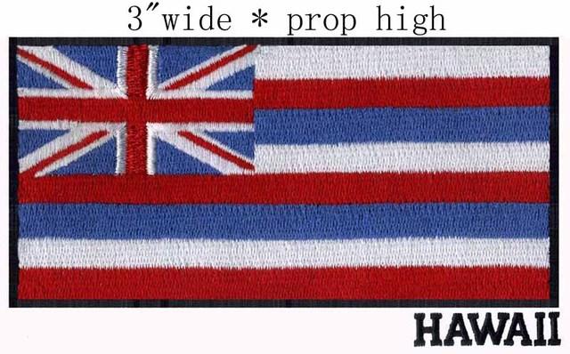 Hawaii Flag 3 Wide Embroidery Patch For Honolulu Sandwich Islands