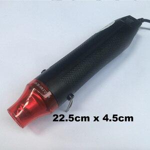 Image 2 - 3 개/대 자동 자동차 비닐 필름 포장 도구 키트 전기 뜨거운 공기 히트 건 EU 플러그 + 자동차 스크레이퍼 스퀴지 + 비닐 커터 나이프