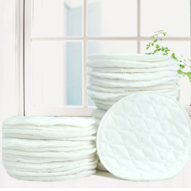 2 pcs/set Pregnant Woman Breast Pads Cotton Washable Breast Pad Galactorrhea Spill Prevention Nursing Pad Baby Breast Feeding