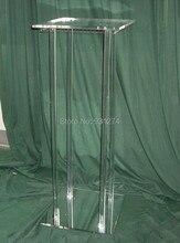 (Бесплатная доставка) Зеркальный акрил Свадебные центральные, lucite события и партии Дисплей стоять kd упаковка