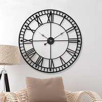 Saat Large Wall Clock Clock Europe Type Restoring Ancient Ways Household Adornment Roman Numerals Wall Antique Iron Round The