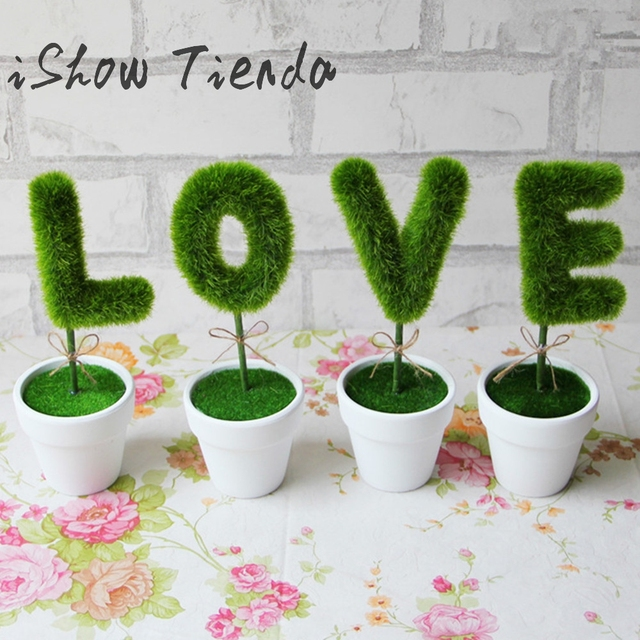 new 4pcs love simulation plant pot gift artificial flower plant home