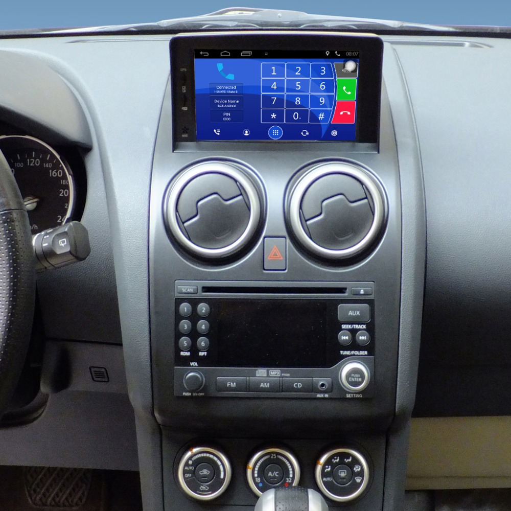 7 inch capacitance touch screen car media player for nissan qashqai gps navigation bluetooth. Black Bedroom Furniture Sets. Home Design Ideas