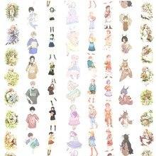 14 дизайн для девочек/цветы/облако/письмо японский васи клейкая лента декоративная клейкая DIY маскирующая бумажная лента подарки Lable Стикеры для дневника