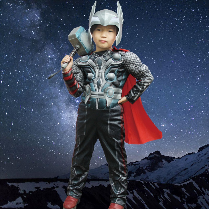 The Avengers Thor Classic Muscle Cosplay Child Costume Boys Iron Man Cosplay Kids Carnival party Halloween Cosplay Superheroes