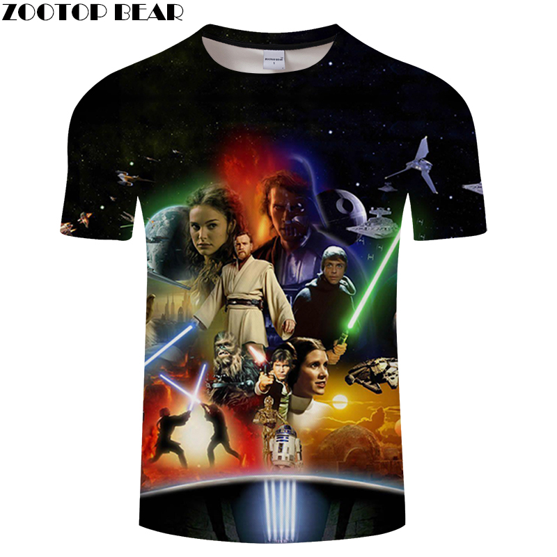 Star Wars T-shirt Men Summer Casual Tops Short Tees 3D Print DropShip Male Quick Dry Breathable Casual 2019 t shirts ZOOTOPBEAR