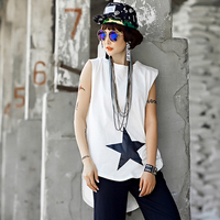 Hiphop Hip Hop Personality American And European Women S Summer Sleeveless Vest Is Irregular In The