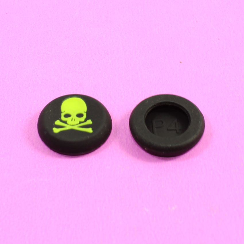 YuXi 2pcs Skull Head Thumb Stick joystick silicone Cap For Playstation 4 PS4 PS3 Analog Grip For Xbox one Xbox360 Controller
