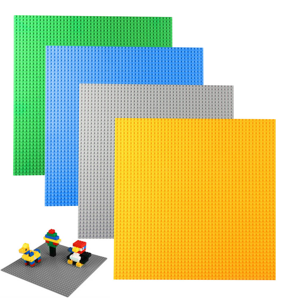 2017 Brand New Fashion Big Size 40*40cm Blocks DIY Baseplate with 50*50 dots Small Bricks Base Plate Green Grey Blue 32 32 dots plastic bricks the island straight crossroad curve green meadow road plate building blocks parts bricks toys diy