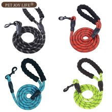 Free Shipping Reflective Large Dog Leash Nylon Rope Pet Running Tracking Leashes Lead Mountain Climbing Accessories