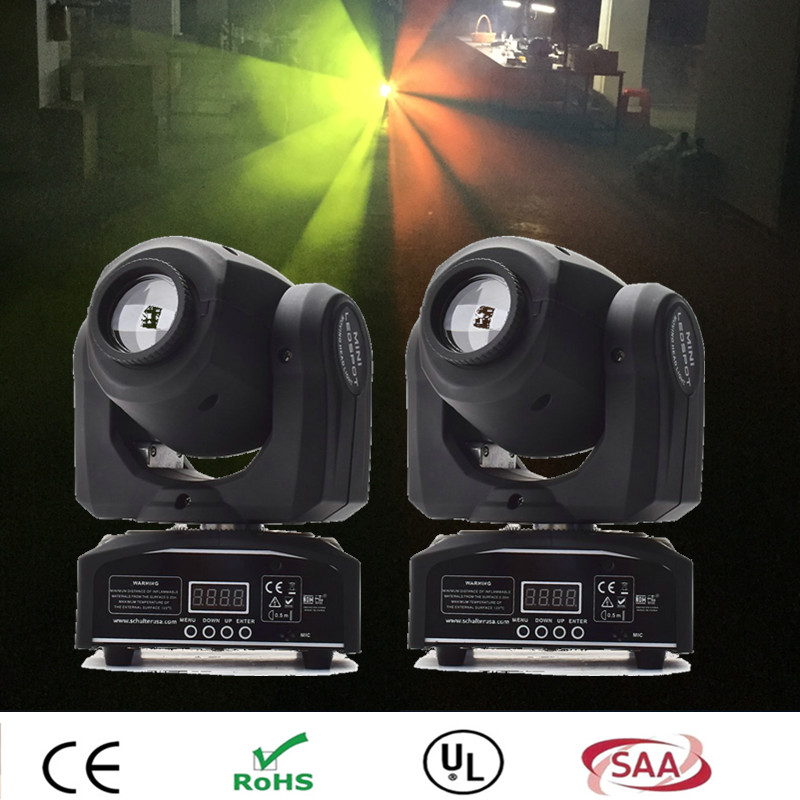 цены (2 pieces/lot) 10W LED Moving Head led spot light 10W gobo lamp LED dj disco lighting projector for bar wedding event moving