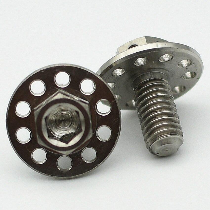 24/50pcs Ti Bolt M6 M6x12mm Ti Bolts Brake Motorcycle Case Repair Screws Decorative Screws Hex Socket Flange Head Ti Fastener 50pcs cd4021be cd4021b cd4021 ti dip 16