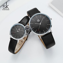 Shengke Fashion Leather Watches For Lover Couple Wa