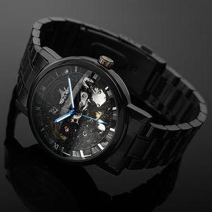 Image 3 - Winner Watch Men Skeleton Automatic Mechanical Watch Gold Skeleton Vintage Man Watch Mens Punk Watch Top Brand Luxury