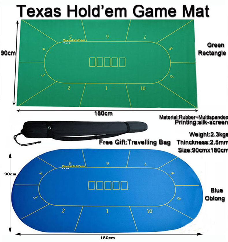 1pc Poker Rubber Mat Texas Hold Em Game Table Top Casino