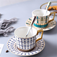 European style Phnom Penh coffee cup high grade bone china tea set simple flower tea black tea cup