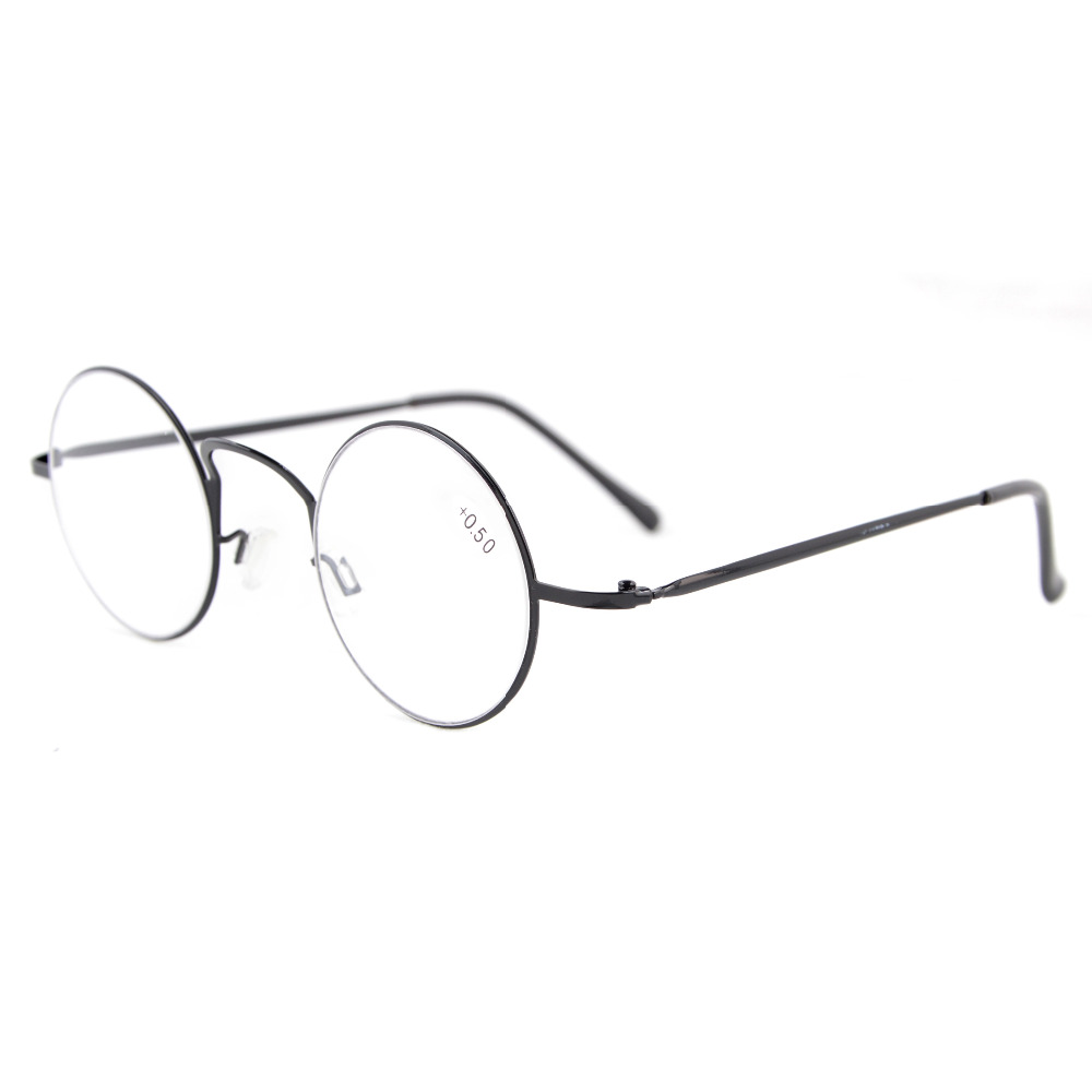 Leitores Eyekepper R15025 Leve Rodada Círculo De Metal Óculos de Leitura + 0.0/0.5/0.75/1.0/1.25/1.5/1.75/2.0/2.25/2.5/2.75/3/3.5/4