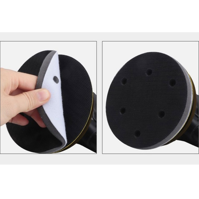 1 Pcs 2019 Nieuwe 5 Inch 6 Gaten Soft Buffer Spons Interface Kussen Pad voor Schuren Pads 125mm Diameter hoge Kwaliteit Car Care