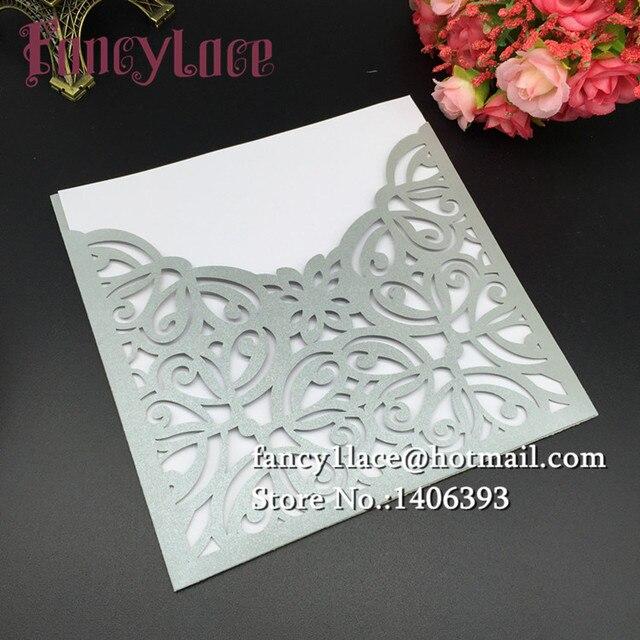 30 Teile/los Papier Maßgeschneiderte Einladungen Grußkarte Hochzeit  Dekoration Laser Cut Diy Spitze Blume Hochzeit