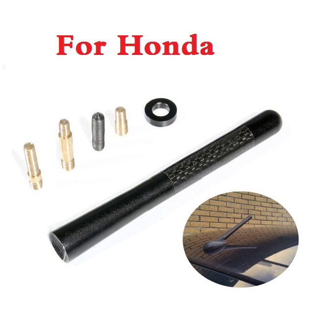 CARBON FIBER SHORT RADIO ANTENNA AM/FM Aerial Car Styling For Honda FCX Clarity Fit Fit  ...
