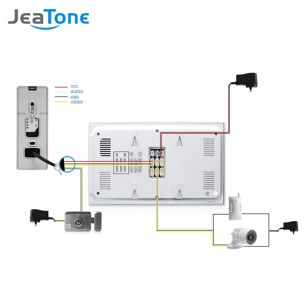 Купить с кэшбэком 7'' Video Door Phone Intercom Doorbell Intercom With Extra Waterproof Camera/PIR/32G Card Access Control System Motion Detection