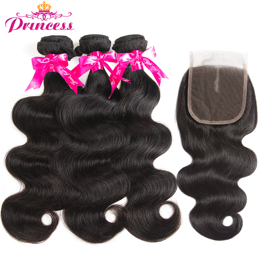 HTB1toAihqQoBKNjSZJnq6yw9VXaE Beautiful Princess Hair 3 Bundles Peruvian Body Wave With Lace Closure Double Weft Remy Human Hair Bundles With Closure
