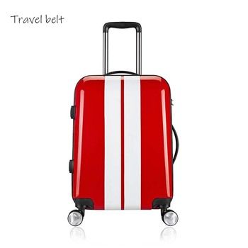 Travel Belt Business car Rolling Luggage Spinner luxury travel Bags Brand PC Boarding trip Suitcase Wheels