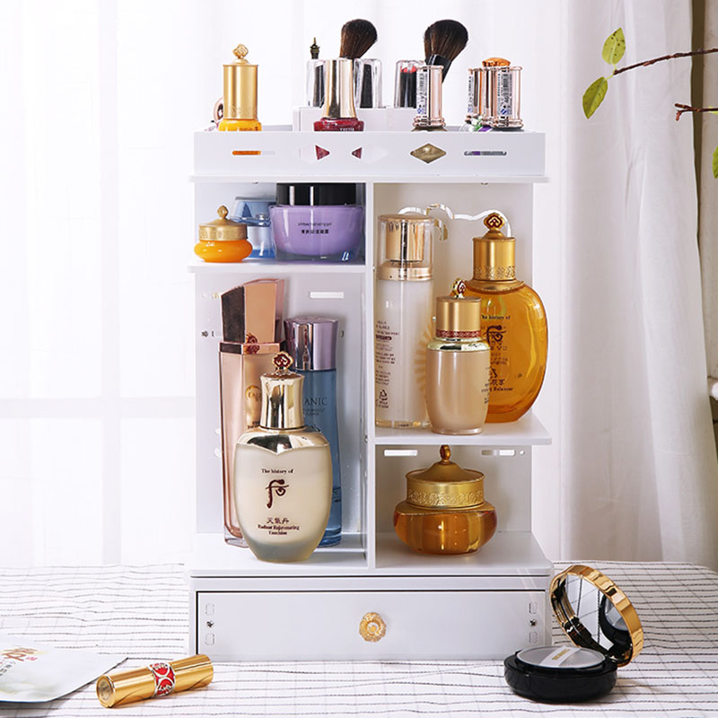 Rotating Makeup Organizer Box Brush Holder Jewelry Organizer Case Jewelry Makeup Cosmetic Storage Box Organizer Shelf Rack