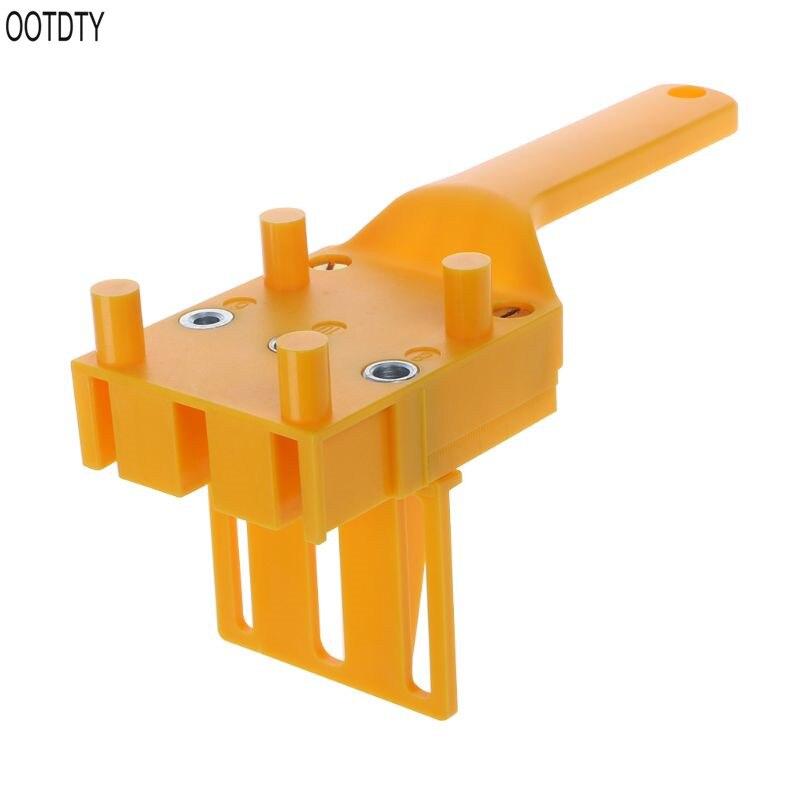 Купить с кэшбэком OOTDTY Handheld Woodworking Doweling Jig Drill Guide Wood Dowel Drilling Hole Saw Accessories