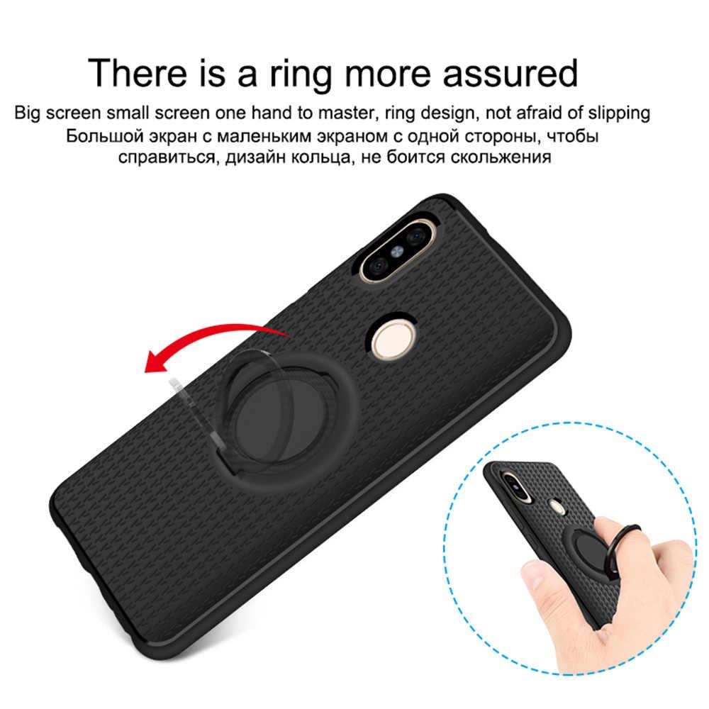Магнитный палец кольцо чехол для Xiaomi mi A1 A2 mi x 2 mi 6 mi 8 чехол 360 держатель Футляр для Redmi 4x 4A S2 6 6A 5 плюс Примечание 5A премьер