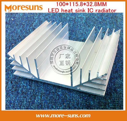 Fast Free Ship 2pcs/lot Electronic Transistor Heat sink 100*115.8*32.8MM LED heat sink IC radiator/Bridge rectifier fins synthetic graphite cooling film paste 300mm 300mm 0 025mm high thermal conductivity heat sink flat cpu phone led memory router