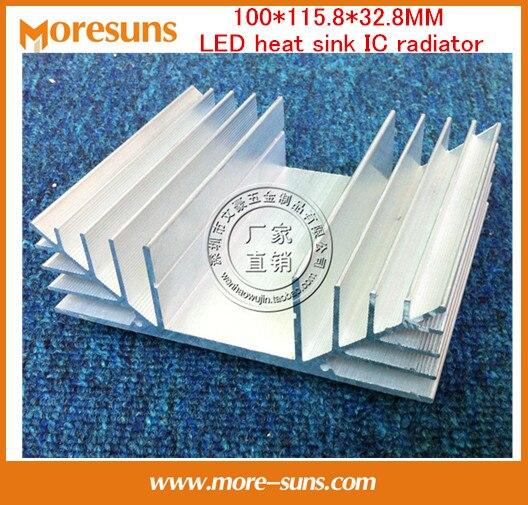 Fast Free Ship 2pcs/lot Electronic Transistor Heat sink 100*115.8*32.8MM LED heat sink IC radiator/Bridge rectifier fins