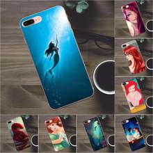 Bixedx miękka TPU etui na Apple iPhone 4 4S 5 5C SE 6 6 S 7 8 Plus X Galaxy A3 A5 j1 J2 J3 J5 J7 2017 Ariel mała syrenka(China)