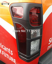 FREE SHIPING 2012-2015 isuzu D-MAX black colour tail lamp cover rear light DMAX accessory accessories