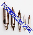 New 5pcs/lot HSS Silver Tone Combined Center Drills Countersinks Bit Set  centre drill