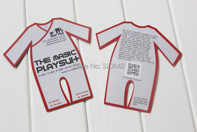 Free Shipping Special Shape Custom Hang Tags Luxury Baby Clothing