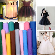 10m Free shipping net yarn tutu fabric mesh wedding dress diy fleabane doll mosquito organza tul wholesale