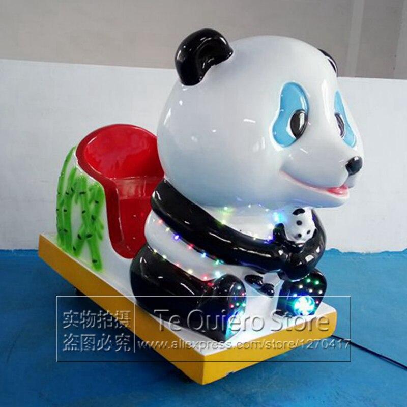Centres commerciaux en fiber de verre jouet électrique Kiddie manèges Machine de jeu monter sur les voitures