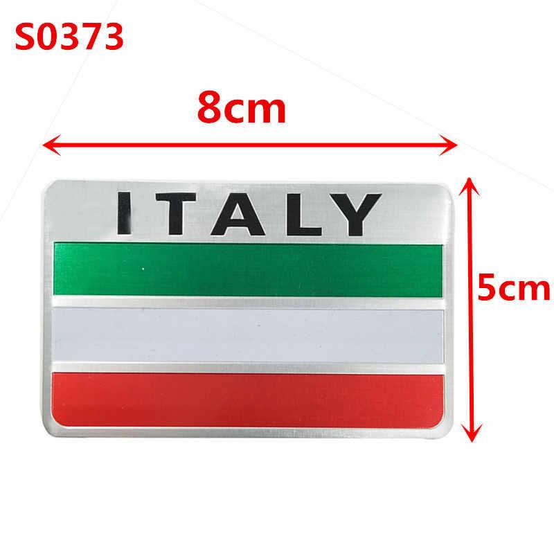 Newbeeイタリア旗 3D金属エンブレムバッジ車のスタイリングオートバイデカールルノープジョーシトロエンシボレーフォードvwベンツシュコダ