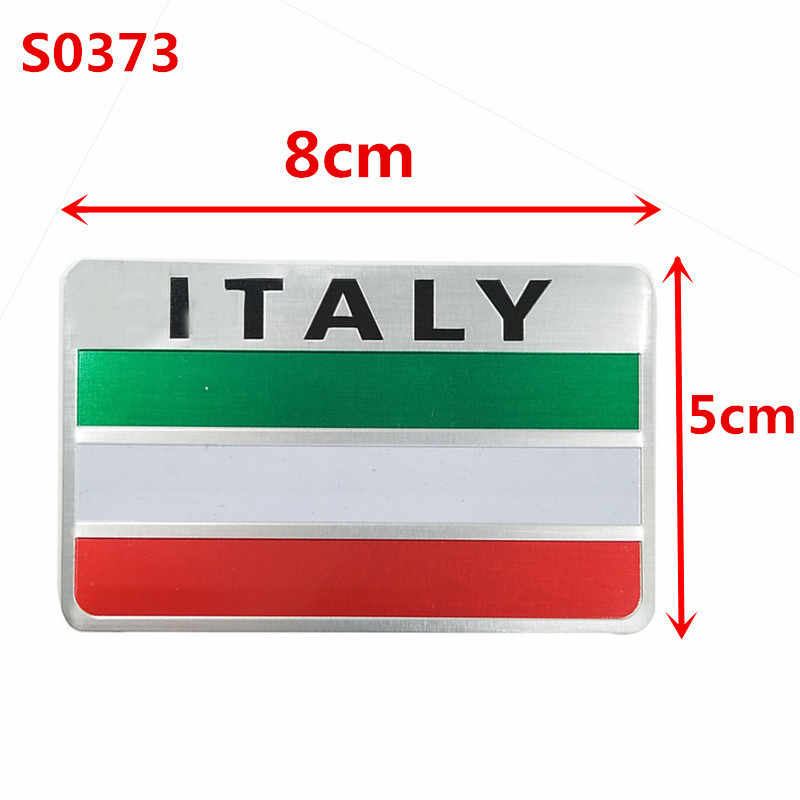 Newbee Italië Vlag 3D Metalen Embleem Badge Auto Styling Motorcycle Decal Voor Renault Peugeot Citroen Chevrolet Ford Vw Benz Skoda