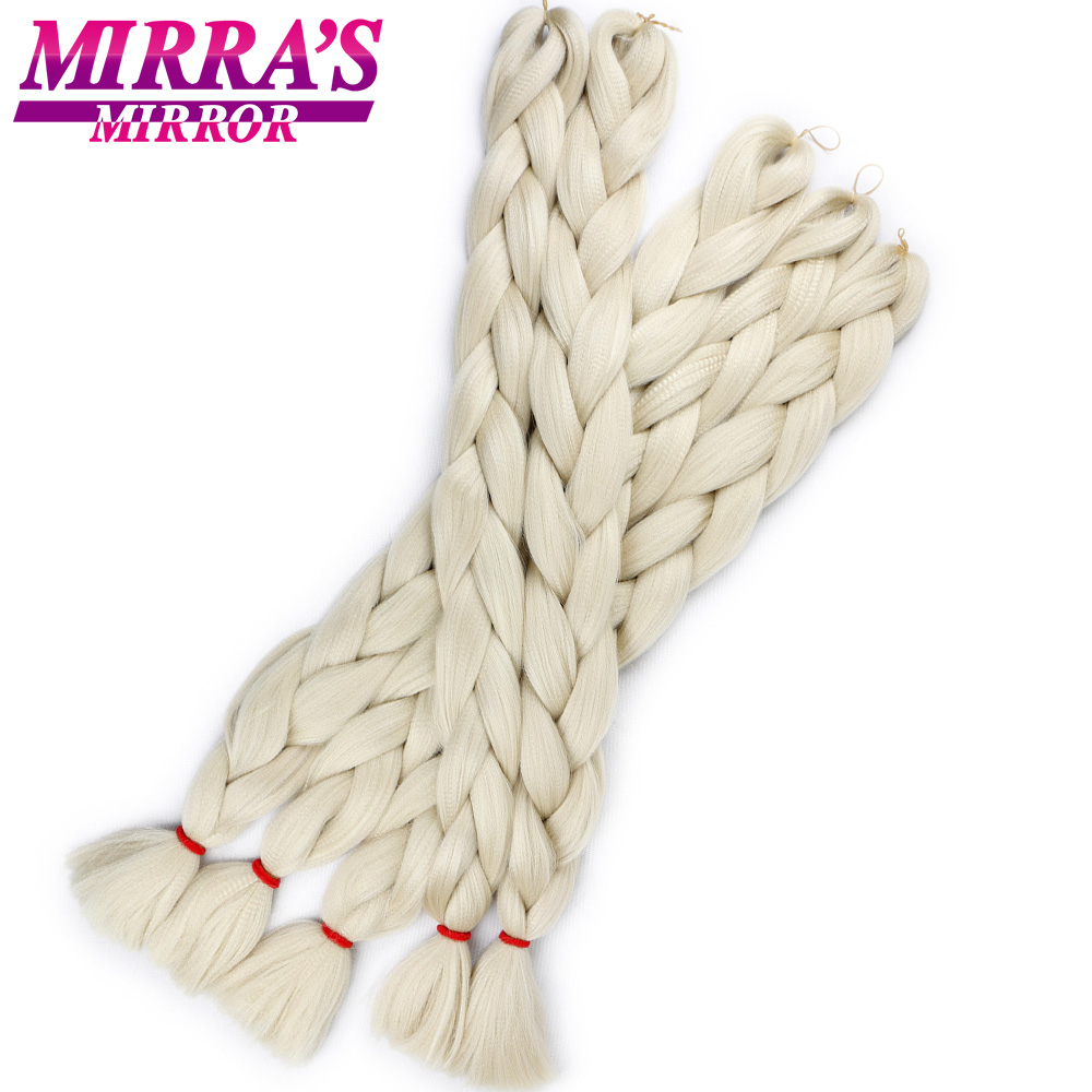 Mirra's Mirror's зеркальные синие волосы в стиле jumbo косы зеленые синтетические волосы для наращивания косичек розовые вязанные крючком волосы 82 д...