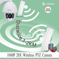 Wireless Wifi Speed Dome PTZ IP Camera 2MP 20X Waterproof Outdoor Auto Tracking PTZ Camera HD 1080P CCTV Camera Support SD Card