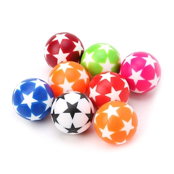 2 szt 32mm plastikowy stół piłka nożna piłka do piłki nożnej części do piłkarzyków Fussball tanie i dobre opinie Standardowy piłkarzyki Table Football