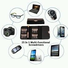 25 in 1 Precision Screwdriver Wallet Set Repair Tools Multi Tool Herramientas For iPhone Laptop Cellphone Electronics PC(China (Mainland))