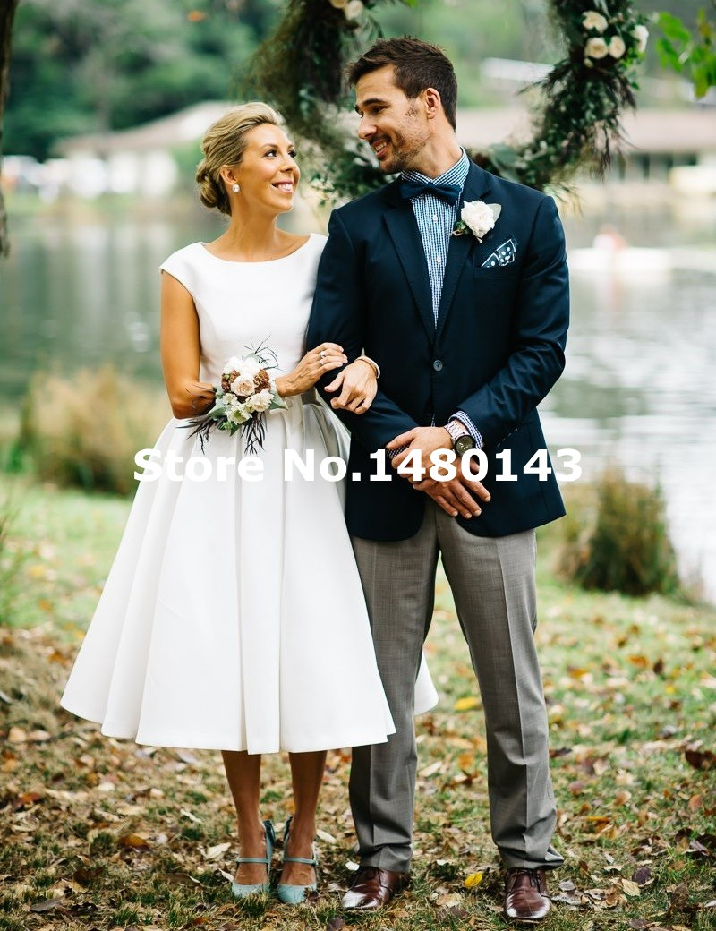Compare Prices on Satin Tea Length Wedding Dress- Online Shopping ...
