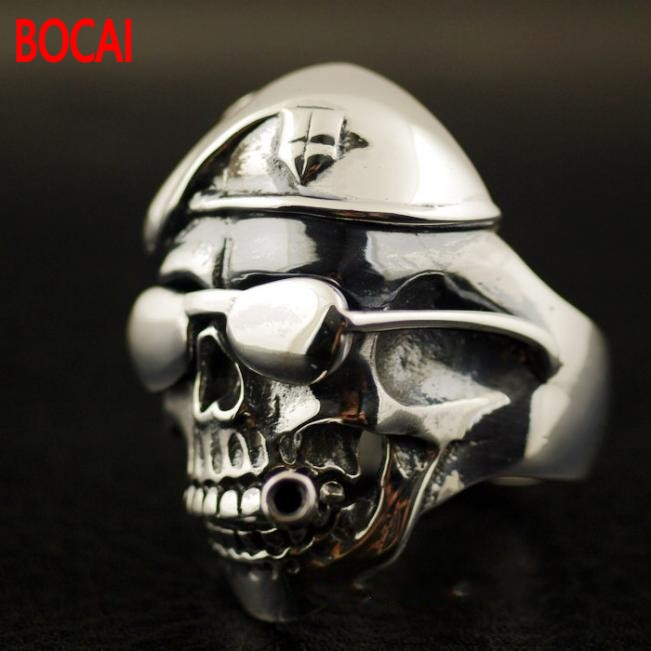 Thailand imports the expendables 925 sterling silver silver ring skeleton thailand imports skull blood new skeleton silver ring